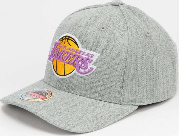 Mitchell & Ness Team Heather Redline Snapback LA Lakers melange šedá