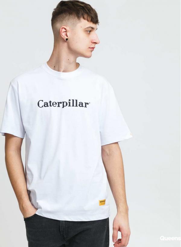 CATERPILLAR Classic Logo Tee bílé