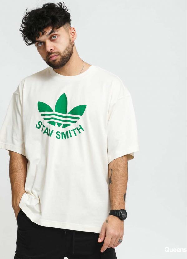 adidas Originals Trefoil Stan Tee krémové / zelené
