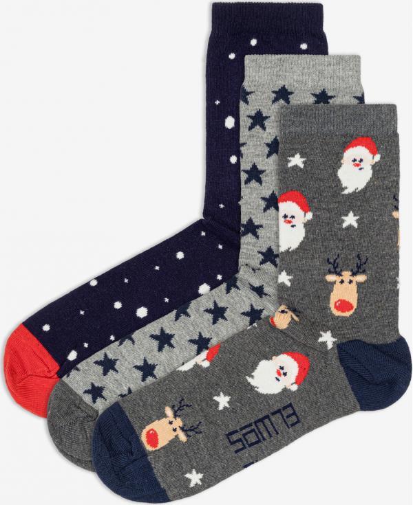 Blixen Ponožky 3 páry Sam 73