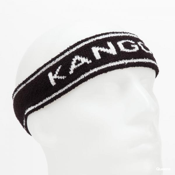 KANGOL Bermuda Stripe Headband černá / bílá