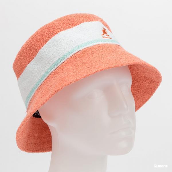 KANGOL Bermuda Stripe Bucket růžový
