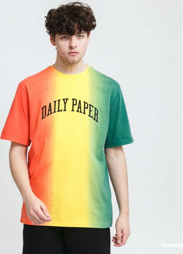 Daily Paper Rebo Tee světle červené / žluté / zelené