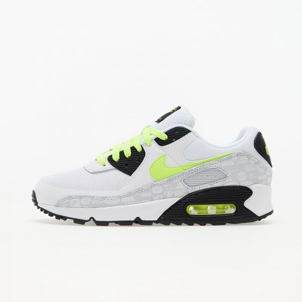 Nike Air Max 90 White/ Volt-Black-Pure Platinum