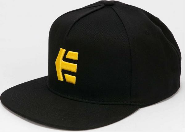 etnies Icon Snapback černá / žlutá