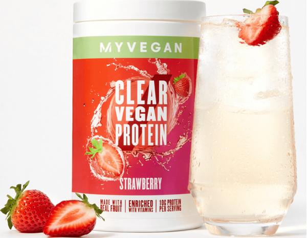 Myvegan  Clear Vegan Protein - 640g - Jahoda