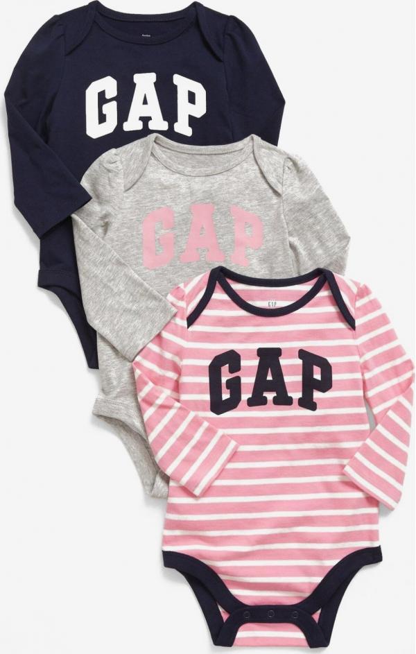 Body 3 ks dětské GAP