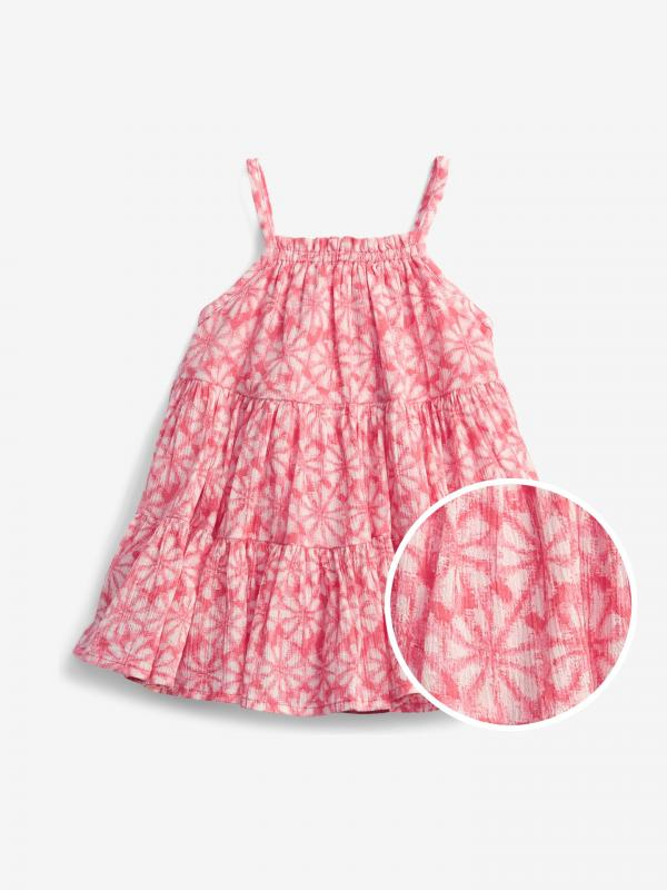 Gauze Tiered Floral Šaty dětské GAP