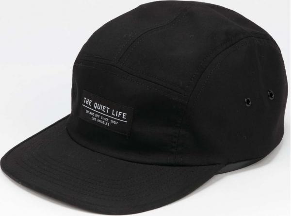 The Quiet Life Foundation 5 Panel Camper Cap černá