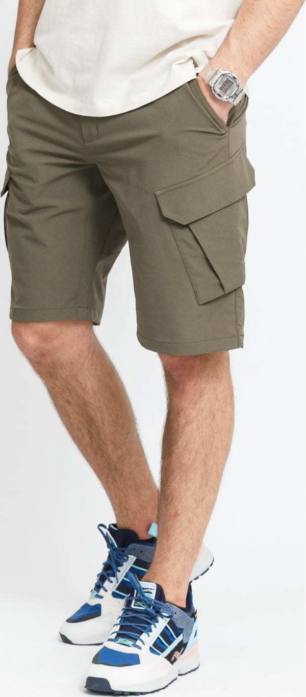 POUTNIK BY TILAK Armor Shorts olivové
