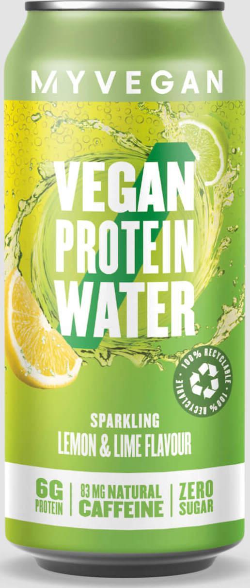 Myvegan  Perlivá proteinová voda vhodná pro vegany - Lemon Lime