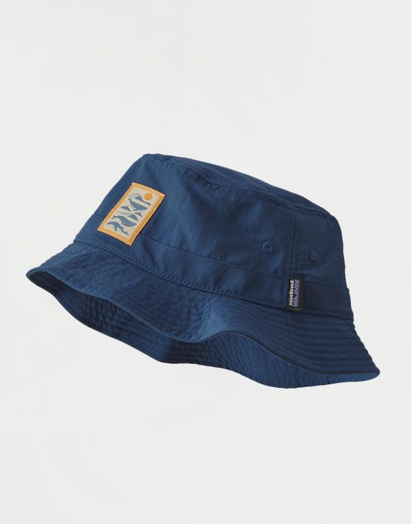 Patagonia Wavefarer Bucket Hat Whale Tail Tubes: Stone Blue S/M