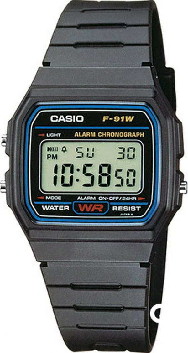 Casio F 91W-1YEG černé