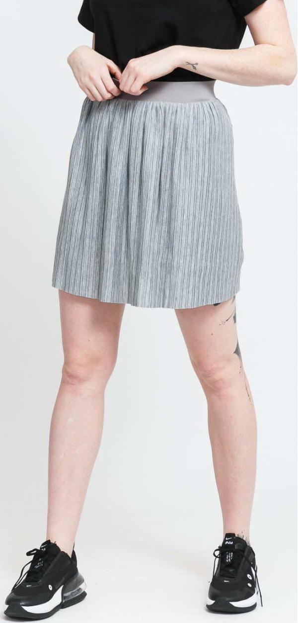 Urban Classics Ladies Jersey Pleated Mini Skirt šedá