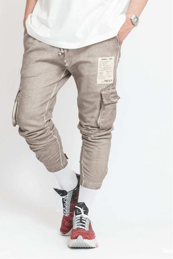 PREACH Sweat Cargo Pants světle hnědé