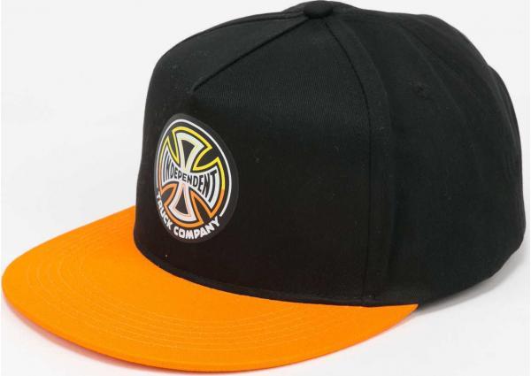 INDEPENDENT Spilt Cross Snapback černá / oranžová
