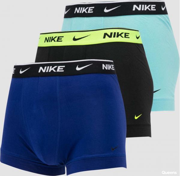 Nike Trunk 3Pack světle modré / modré / černé