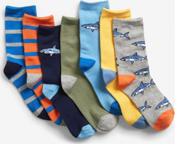 Shark Ponožky 7 párů dětské GAP