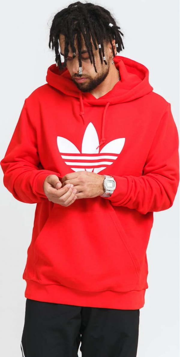 adidas Originals Trefoil Hoody červená / bílá