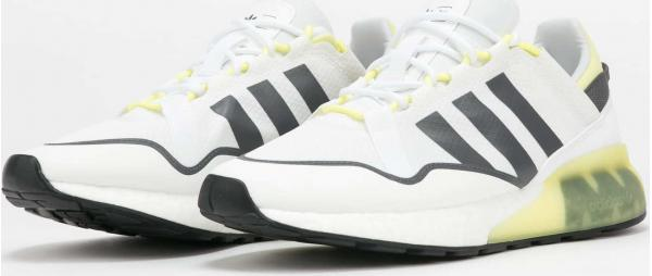 adidas Originals ZX 2K Boost Pure ftwwht / grefiv / pulyel EUR 47 1/3