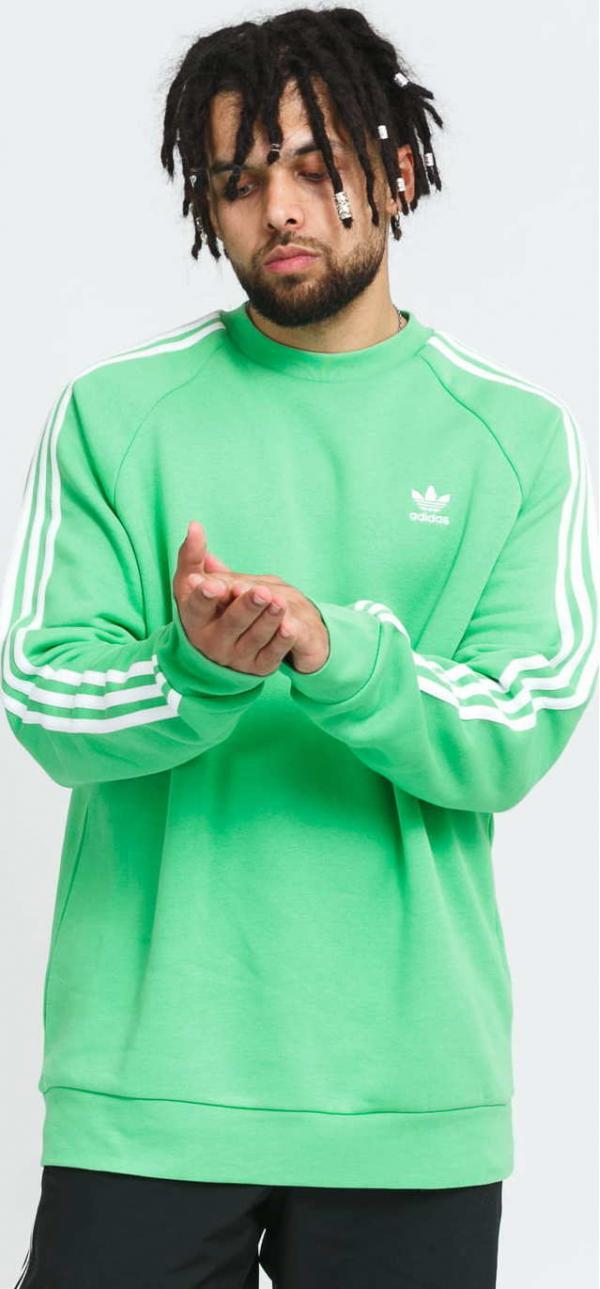 adidas Originals 3-Stripes Crew zelená