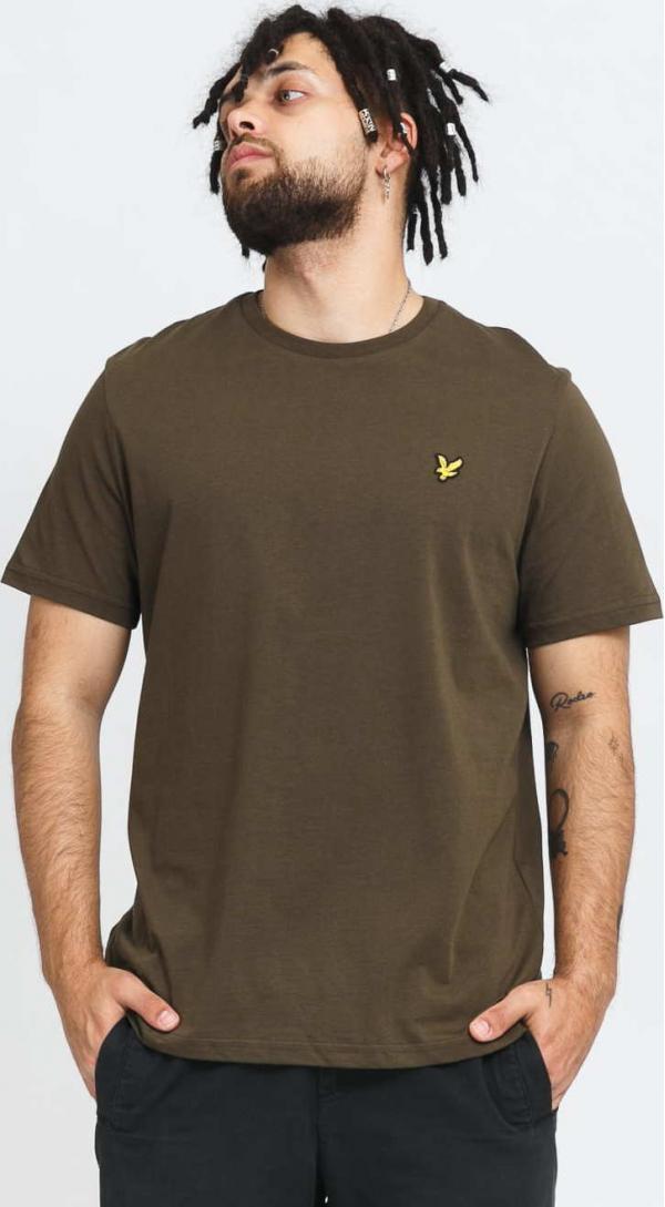 Lyle & Scott Plain T-Shirt tmavě olivové