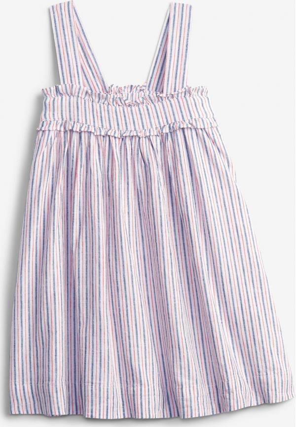 Linen Stripe Šaty dětské GAP