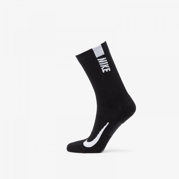 Nike Multiplier Crew Sock (2 Pairs) Black/ White