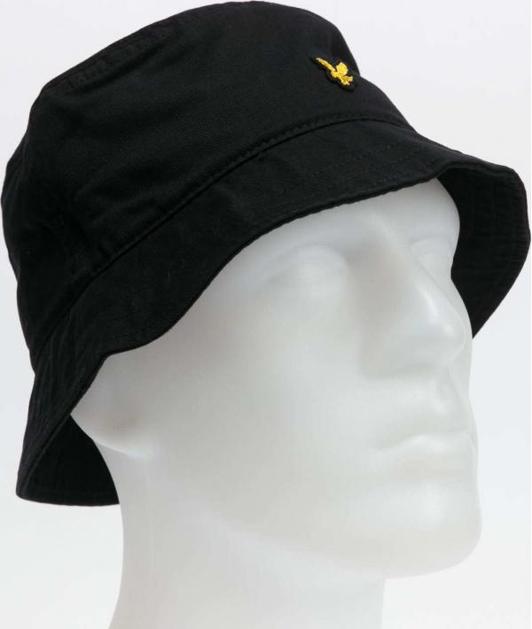 Lyle & Scott Cotton Twill Bucket Hat černý