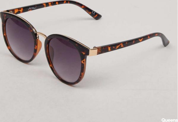 Jeepers Peepers Round Tort Sunglasses černé / hnědé