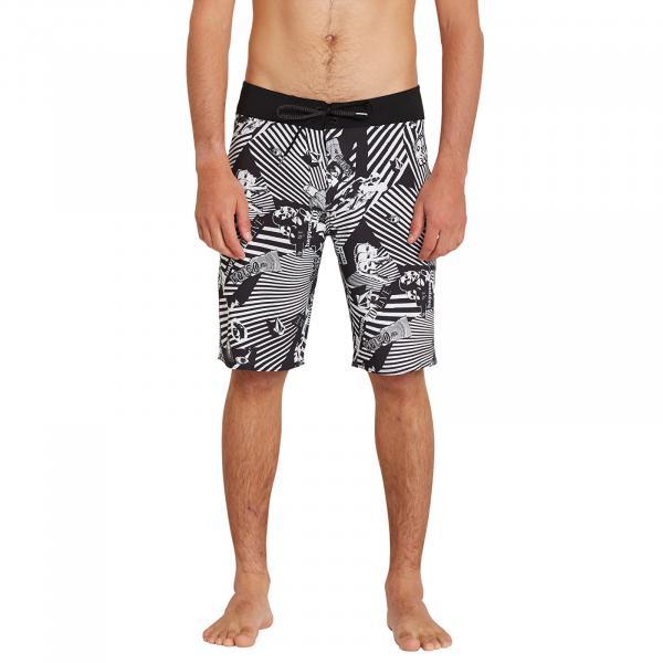 Volcom Mod Lido Print 20 Boardshorts Black
