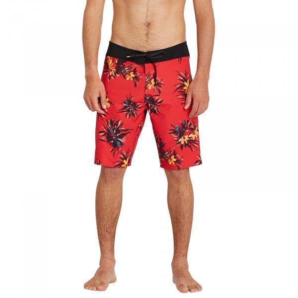 Volcom Mod Lido Print 20 Boardshorts Carmine Red
