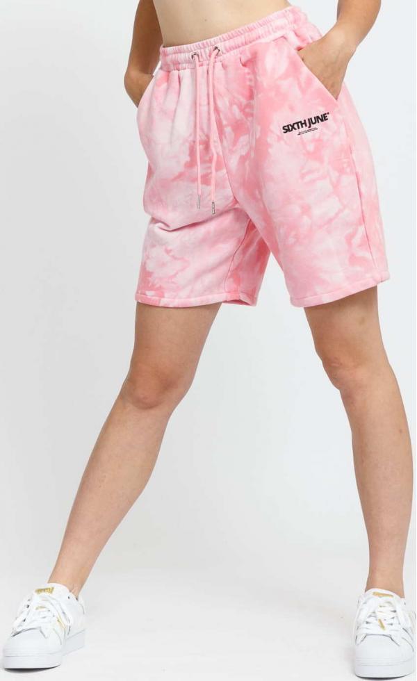 Sixth June W Tie Dye Shorts růžové