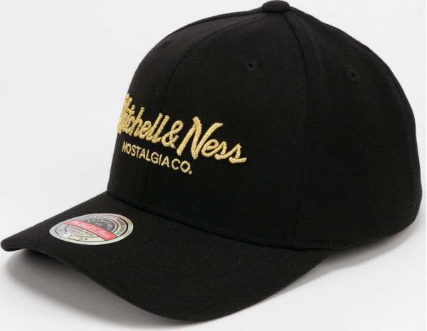 Mitchell & Ness Branded Pinscript Redline Snapback černá / zlatá