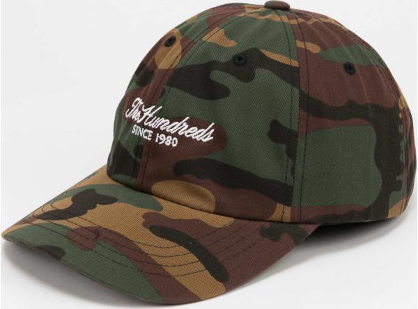 The Hundreds Rich Dad Hat camo zelená / hnědá / béžová / černá