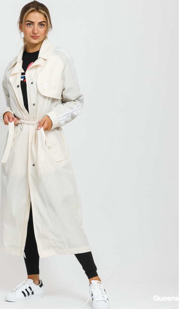 adidas Originals Trench Coat krémová