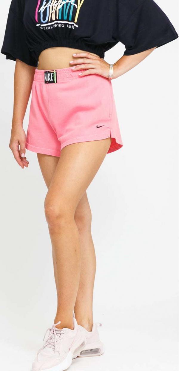 Nike W NSW Wash Short HR růžové