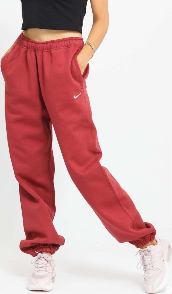 Nike W NRG Solo Swoosh Fleece Pant vínové