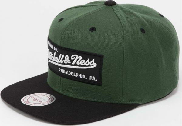 Mitchell & Ness Branded Box Logo Snapback zelená / černá
