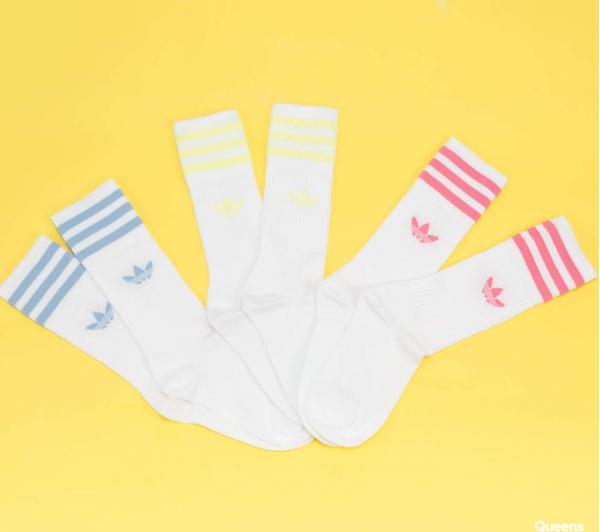 adidas Originals Solid Crew Sock bílé