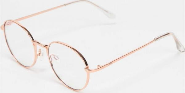 Jeepers Peepers Sunglasses růžově zlaté / průhledné