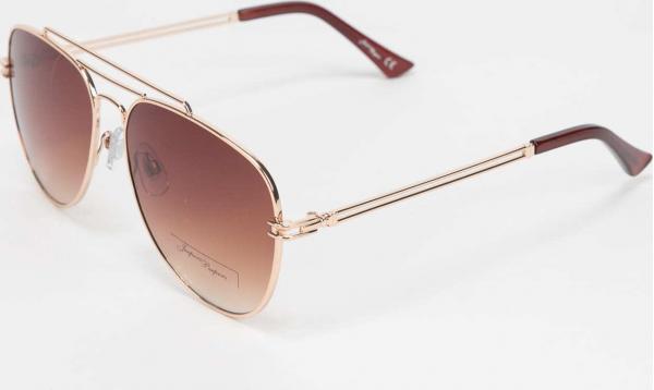 Jeepers Peepers Sunglasses zlaté / hnědé