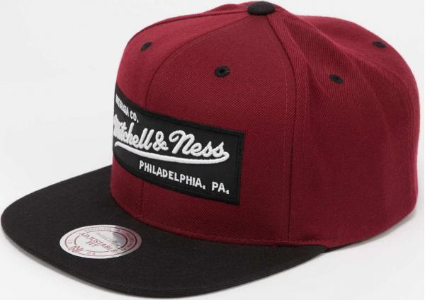 Mitchell & Ness Branded Box Logo Snapback vínová / černá