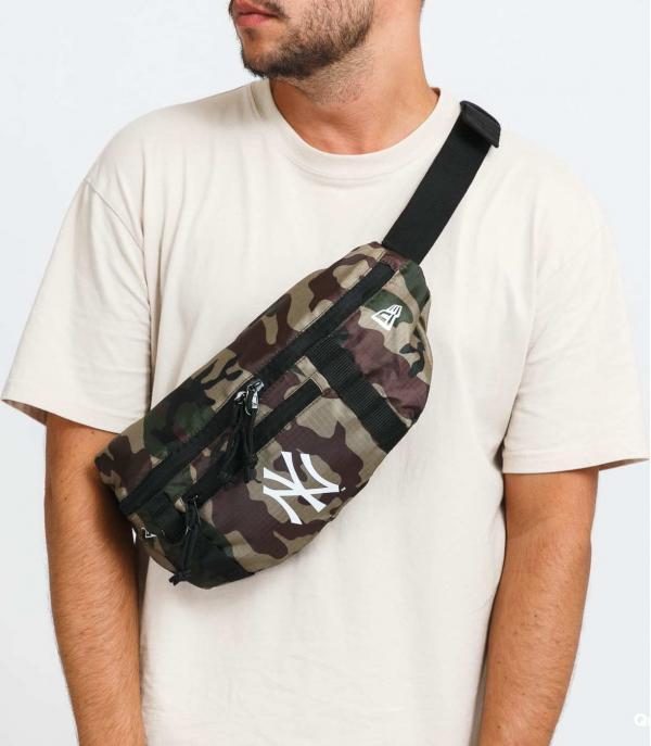 New Era Waist Bag Light NY camo béžová / hnědá / zelená