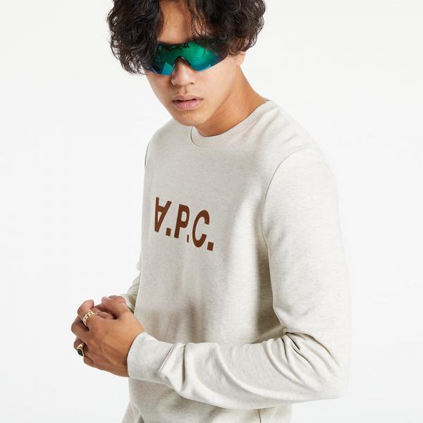A.P.C. Vpc Logo Print Sweatshirt Beige