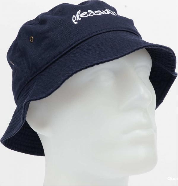 PLEASURES Hyde Logo Bucket Hat navy L-XL