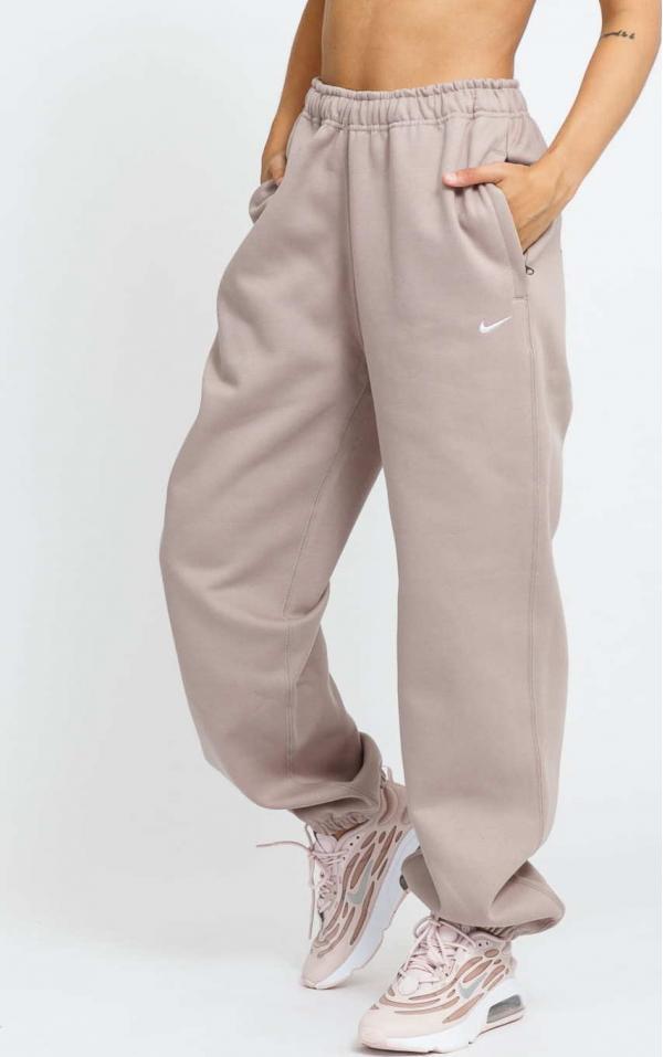 Nike W NRG Solo Swoosh Fleece Pant světle hnědé