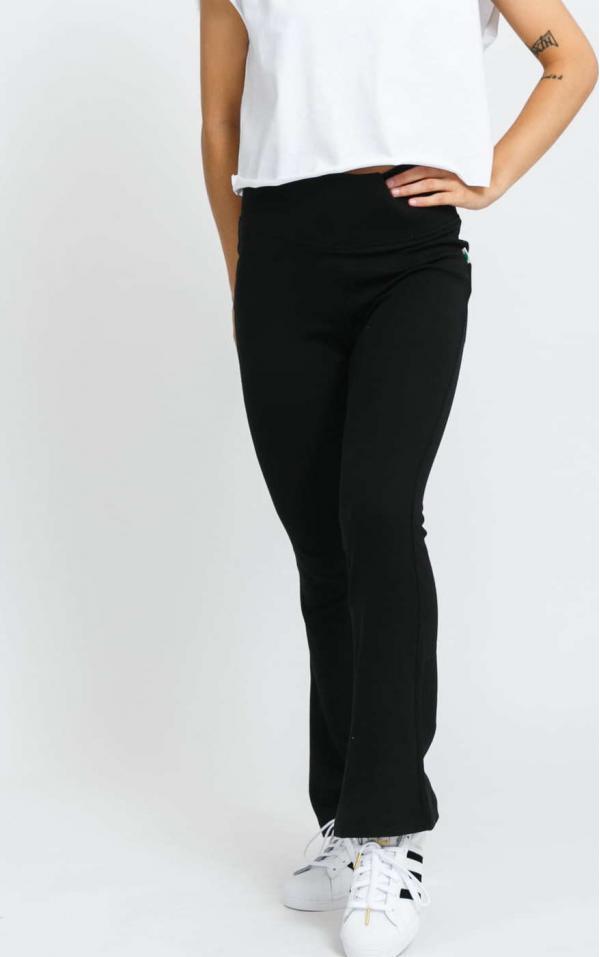 Urban Classics Ladies Organic Interlock Bootcut Leggings černé
