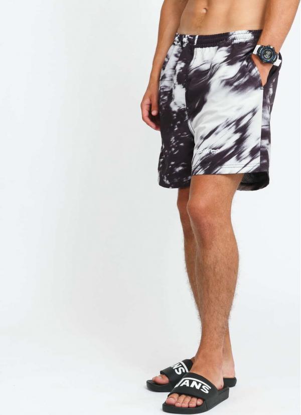 PLEASURES Hyde Nylon Shorts černé / světle šedé