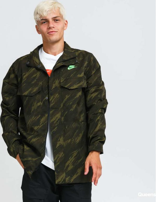 Nike M NSW Spe+ Woven Ut M65 Jacket AOP1 camo tmavě zelená